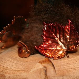 Fall Clip-On Leaf Earrings